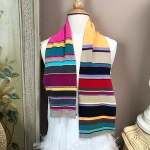 Ralph RL striped wool blended scarf